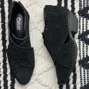 NEW Carlos Suede Leather Laser Cute Ankle Booties